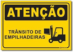 Atenção - Trânsito de Empilhadeira
