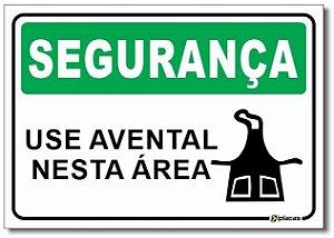 Segurança - Use Avental Nesta Área