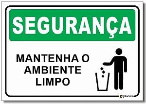 Segurança - Mantenha o Ambiente Limpo