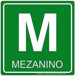 Placa Fotoluminescente - Pavimento - Mezanino