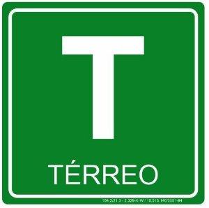 Placa Fotoluminescente - Pavimento - Térreo