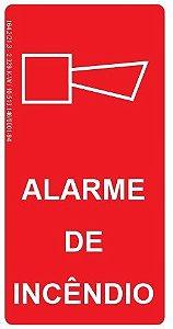 Placa Fotoluminescente - Alarme de Incêndio
