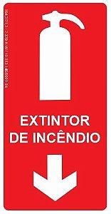 Placa Fotoluminescente - Extintor de Incêndio