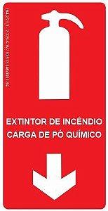 Placa Fotoluminescente - Extintor de Incêndio - Carga de Pó Químico