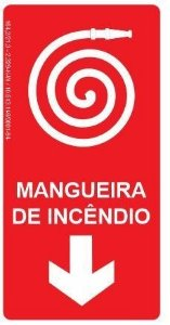 Placa Fotoluminescente - Mangueira de Incêndio