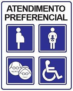Placa Atendimento Preferencial - 30x20cm