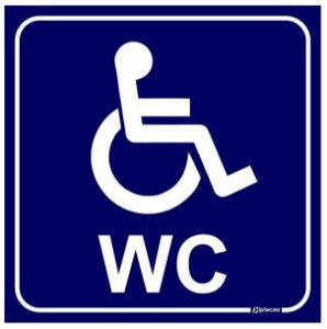 Placa WC Exclusivo para Deficientes