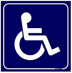 Placa Acesso Exclusivo para Deficientes