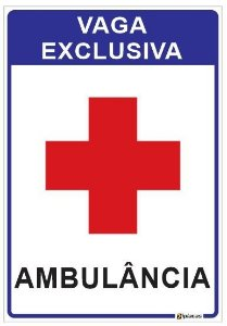 Vaga Exclusiva - Ambulância