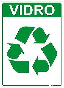 Placa Material Reciclável - Vidro