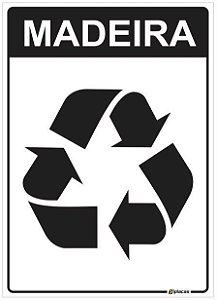 Placa Material Reciclável - Madeira