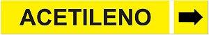 Etiqueta Adesiva Identificação de Tubulação Acetileno