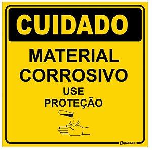 Etiqueta - Cuidado - Material Corrosivo