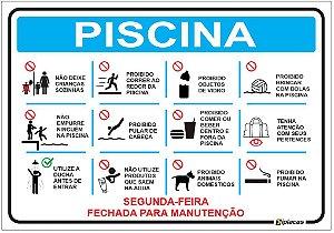Placa - Normas Piscina