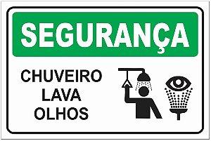 Placa SEGURANÇA - Chuveiro - Lava Olhos