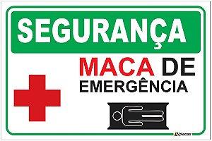Placa - SEGURANÇA - MACA de Emergência
