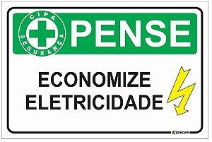 Placa CIPA - PENSE - Economize eletricidade