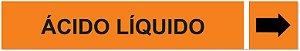 Etiqueta Adesiva Identificação de Tubulação Ácido Líquido