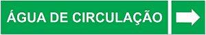 Etiqueta Adesiva Identificação de Tubulação Água de Circulação