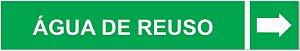 Etiqueta Adesiva Identificação de Tubulação Água de Reuso