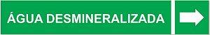 Etiqueta Adesiva Identificação de Tubulação Água Desmineralizada