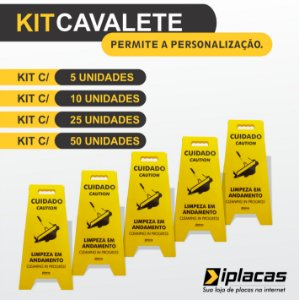 Kit Cavalete em PS - Limpeza em andamento