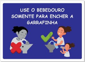 Placa - Uso Consciente do Bebedouro