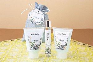 Kit Álcool gel, Hidratante e perfume (mínimo 20 unidades)