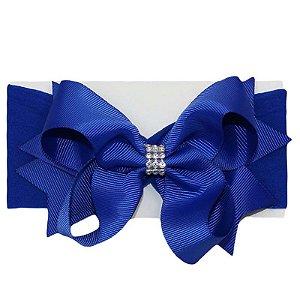 Faixa de Cabelo Strass Azul Royal