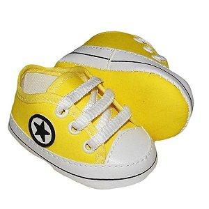Tênis Bebê Estrelinha Amarelo
