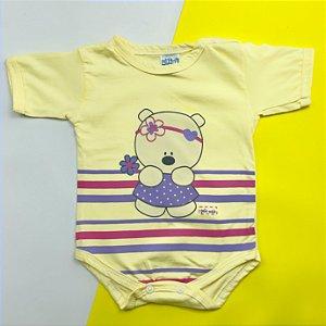Body Bebê Basico Amarelo Menina