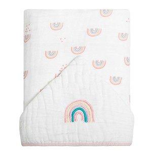 Toalha de Banho com Capuz Soft Chuvinha Colorida