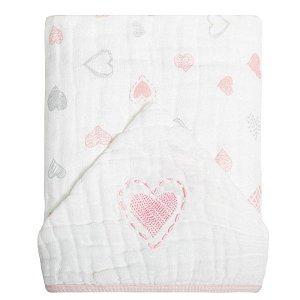 Toalha de Banho com Capuz Soft Coração