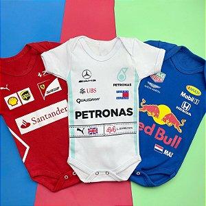 Kit Body Bebê Fórmula 1