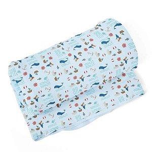 Cobertor Flanelado Estampado Baleia