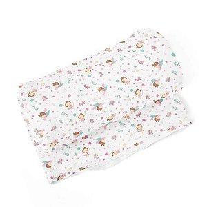 Cobertor Flanelado Estampado Menina Balanço