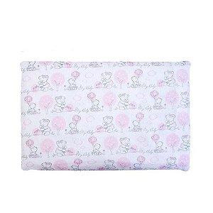 Travesseiro Espuma com Furos Ursa Rosa