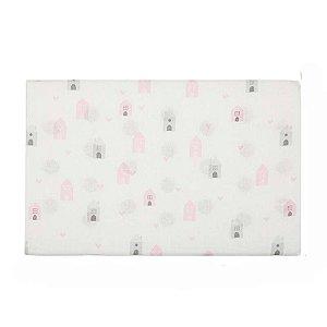 Travesseiro Espuma com Furos Casinha Rosa