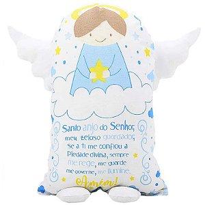 Travesseiro Naninha Anjinho da Guarda Azul