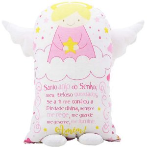 Travesseiro Naninha Anjinho da Guarda Rosa
