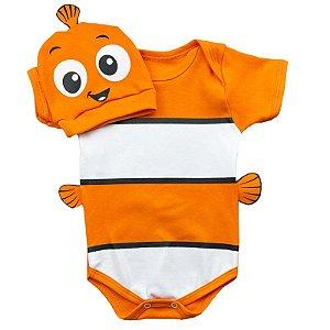 Body Bebê Procurando Nemo com Touquinha