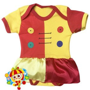 Body Vestido Bebê Boneca Emília Sitio do Pica Pau Amarelo