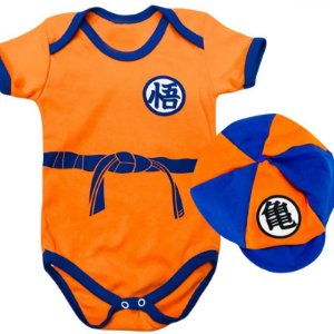 Kit Body Bebê Goku Dragon Ball Z com Boina