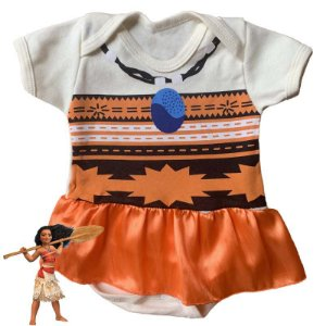 Body Vestido Bebê Moana