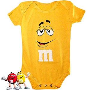 Body Bebê M&M`s Amarelo