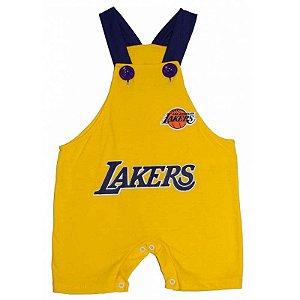Jardineira Regata Bebê Basquete NBA Los Angeles Lakers