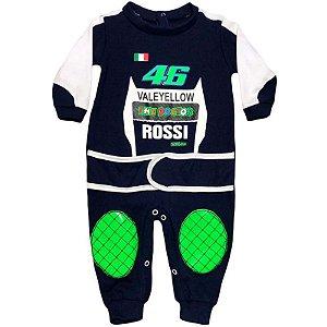 Macacão Bebê Suedine Valentino Rossi Moto GP The Doctor 46