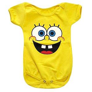 Body Bebê Bob Esponja Rostinho