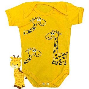 Body Bebê Bichos Girafa