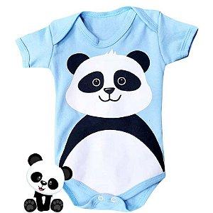 Body Bebê Bichos Panda Azul